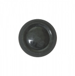 Must, läikiv, reljeefse mustriga, kannaga nööp 23mm, 36L