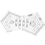 Clear View Twin Pentagon Ruler, max.70mm, LeSummit NT-5010