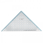 Triangle Plastic Clear View Ruler 19cm / Le Summit (Taiwan) 34219