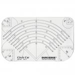 Šabloon-joonlaud ringide lõikamiseks / Clear View Circle Cut Ruler / 15cm-30cm Duroedge (Taiwan) KR-2345