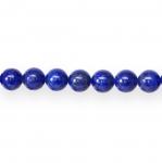 Ümarad lasuriidist e. lapis lazulist 10mm helmed