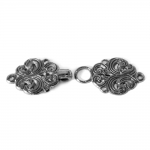 Scandinavian Pewter Clasps, pair size 63mm x 20mm
