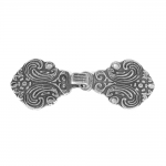 Scandinavian Pewter Clasps, pair size: 70mm x 30mm