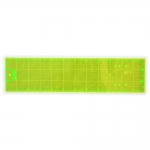 Neon Yellow Clear View (Pachwork) Ruler 15cm x 60cm / Le Summit (Taiwan) LS-1560F