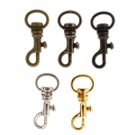 Swivel hook; swivel lach; swivel ring; snap hook, key clasp, 40mm, lace hole ø12mm