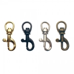 Small swivel hook; swivel lach; swivel ring; snap hook, key clasp, 28 mm, hole ø6 mm