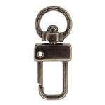 Swivel hook; swivel lach; swivel ring; snap hook, key clasp, 40mm, hole ø11mm