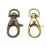 Swivel hook; swivel lach; swivel ring; snap hook, key clasp, 40mm, hole ø8mm