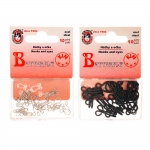 Hooks & Eyes, steel, 10ps/set, Koh-i-noor