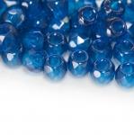 Ümar tahuline klaashelmes suure 3mm-auguga, Jablonex Tšehhi, 8mm