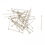 Silver Plastic Head Pins / 250g / 32 x ø0,55mm