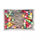 Large Round Plastic Head Pins; 120pc / 100 × ø1,2mm / NS100