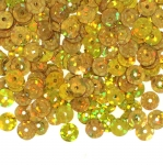 Flat & Semi-Cupped Circle Sequins, 1 Center Opening / ø6mm
