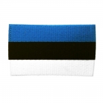 Embroidered Iron-On Patch; Estonian Flag / 78 x 50mm