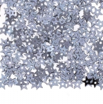 Siledapinnalised tähekujulised plastlitrid / Flat Star Sequins, 1 Center Opening / ø5mm