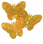 Reljeefsed liblikakujulised plastlitrid / Bumpy Butterfly Sequins, 2 Side Openings / ø30 x 23mm