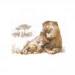 Наборы для вышивки крестом RIOLIS Premium 100/013 Львиный рай