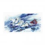 Cross-Stitch Kit RIOLIS Premium 100/046 Magical Sleigh Ride