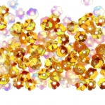 Lillekujulised kausjad plastlitrid / Cupped Flower Sequins, 1 Center Opening / ø6mm