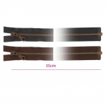 35cm Open end Metal Zippers, zip fasteners, member width: 6mm