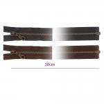 30cm Open end Metal Zippers, zip fasteners, member width: 6mm
