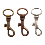 Swivel hook; swivel lach; snap hook, key clasp, 60mm, for lace/belt max 20mm