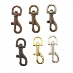 Small swivel hook; swivel lach; swivel ring; snap hook, key clasp, 35 mm, hole ø8 mm