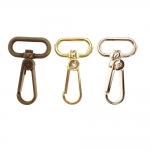 Swivel hook; swivel lach; swivel ring; snap hook, key clasp, Twist Base, 59mm for band 20-25mm