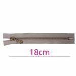 Closed end Metal Zippers, Metal zip fasteners, 18cm