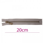 Closed end Metal Zippers, Metal zip fasteners, 20cm