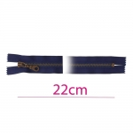 Closed end Metal Zippers, Metal zip fasteners, 22cm