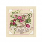 Cross-Stitch Kit Riolis 1476 Raspberry Tea
