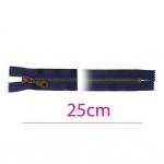 Closed end Metal Zippers, Metal zip fasteners, 25cm