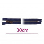Closed end Metal Zippers, Metal zip fasteners, 30cm