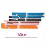 60cm Open end Metal Zippers, zip fasteners, member width: 4mm