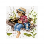Cross-Stitch Kit Riolis 1470 Let`s Go Fishing