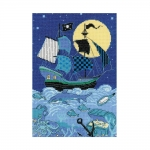 Cross-Stitch Kit Riolis 1511 Pirate Ship