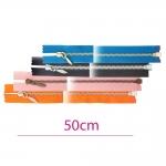 50cm Open end Metal Zippers, zip fasteners, member width: 4mm
