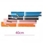 40cm Open end Metal Zippers, zip fasteners, member width: 4mm