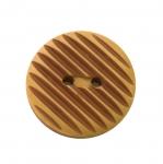 Reljeefse triibumustriga, kahe auguga nööp / Plastic button, 2 holes, ø30mm, 48L