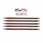 Double Pointed Knitting Needles, Knitting pins, 20 cm, Cubics (Symfonie Rose), KnitPro