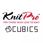 Short Double Pointed Knitting Needles, Knitting pins, 15 cm, Cubics (Symfonie Rose), KnitPro