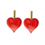Heart shape stoppers, 2 pcs/set for Addi Click knitting needle systems, Addi 699-7