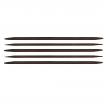 Rosewood 2-point knitting pins, knitting needles 20 cm, Pony