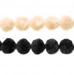 Dekoratiivne puuvillane nöör pallikestega AA137A/ 36150