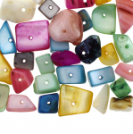 Dyed Shell Chunk Beads / 3-15mm