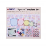 Clear View Square Templates set, YFC (Taiwan), RN-5540