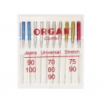 All-at-one Needles for Home Sewing Machines, Organ `Combi`