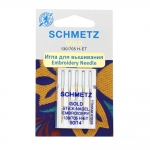 Embroidery Needles for Home Machines, Schmetz GOLD