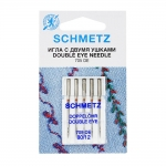Double Eye Needle for Home Sewing Machines, Schmetz